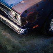 close shot of vehicle headlight