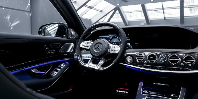 black and gray bmw car interior